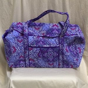 Vera Bradley Large Duffel Lilac Tapestry